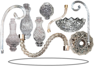 Crystal lighting parts chandelier crystal parts retail and chandelier parts aloadofball Gallery